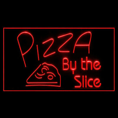 110095 Pizza By The Slice Cafe Sensation Take Away Italian Grill LED Light Sign