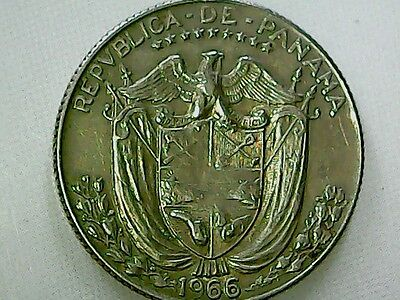 Panama 1966  25 Cent Coin Great Cond.