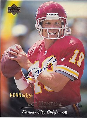 1995 UPPER DECK AUTHENTICATED 8x10 AUTO: JOE MONTANA #68/500 AUTOGRAPH UDA PHOTO