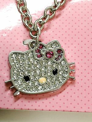 HELLO KITTY PENDANT NECKLACE with SWAROVSKI CRYSTALS US fast shipping