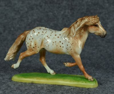 Horsing Around of England Bone China Trotting Red Appaloosa Horse
