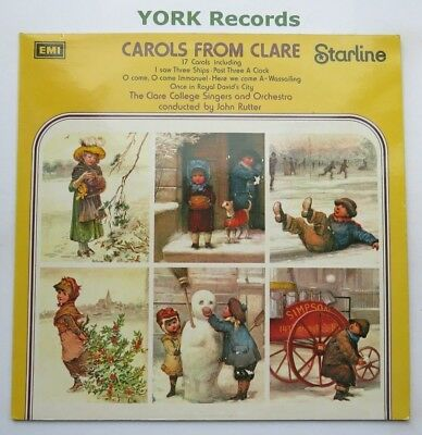 CAROLS FROM CLARE - Clare College Singers - Ex Con LP Record Starline SRS 5188