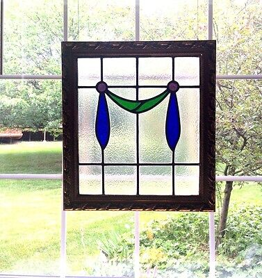 "English Antique Victorian Stained Glass Window.18""h x 16""w. 4 to sell."