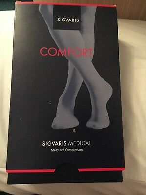 BNWT Medical compression tights/ Sigvaris Comfort Large Black BNWT 22-32mmHg