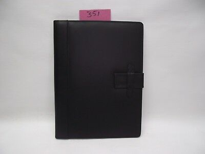 A4 Black  Leather folder  (style 351) also holds A4 diary