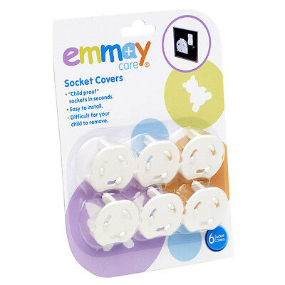 Emmay Care Child Proof Plug Socket Covers 6 Pack Baby Safety