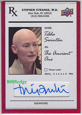 2016 Doctor Strange The Ancient One Auto: Tilda Swinton - Autograph Red Foil
