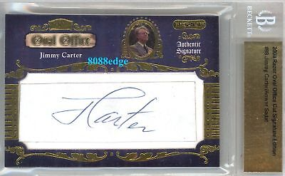 2008 Razor Oval Office Auto: Jimmy Carter / Anwar Sadat #1/1 Of Dual Autograph