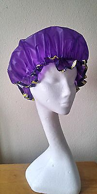 New Purple Shower Cap with African Trim