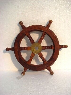 Vintage Style ship's STEERING - HELM - Wooden & Brass -  LARGE (617)