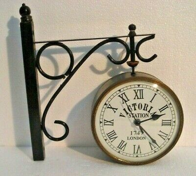 Vintage Style VICTORIA STATION 1747 LONDON Clock - RARE - Very Nice One (622)