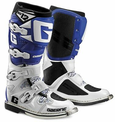 Gaerne SG-12 MX Boots White Blue size 41 motocross stiefel