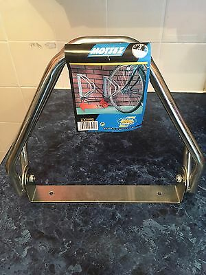 Mottez 1-Bike Cycle Bicycle Storage Holder Wall Rack Stand Steel Construction
