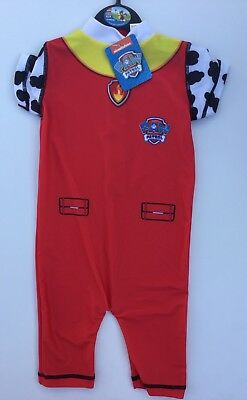 Baby Boy Red Sunsuit in Paw Patrol detail. 18-24 months
