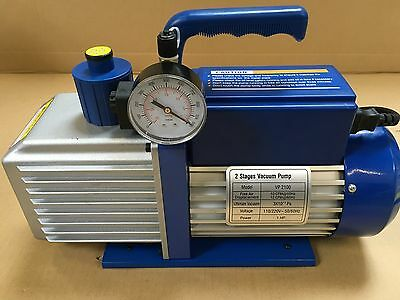 Air conditioning Vacuum pump 1 HP 10cfm With Vac Gauge and Solenoid