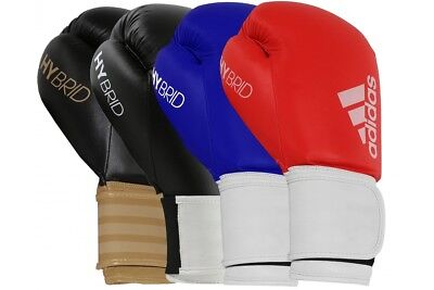 Adidas Hybrid 100 Boxing Gloves All Colours Sparring 8 10 12 14 16 oz Kickboxing