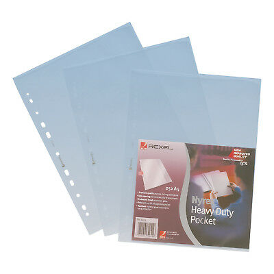 Rexel Nyrex Pocket Heavy-duty Top and Side-opening A4 Clear