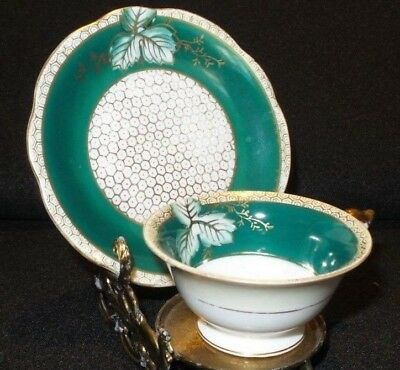 Antique Occupied Japan Bone China Hand Painted Demitasse Cup & Saucer