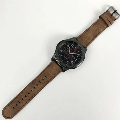 Genuine Leather 22mm Strap Band For Samsung Gear S3
