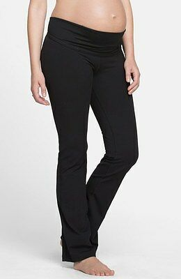 INGRID & ISABEL Active Maternity Pants with Crossover Panel Black SMALL
