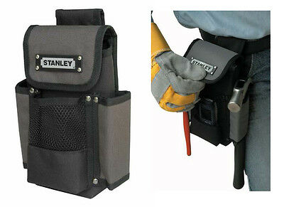 "Stanley 9"" Tough Tool Pouch 600 Denier Fabric Tool Holder With Belt Loop"