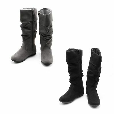 Sonoma Aviana Slouch Boots with Zipper for Girls - Faux Suede - Round Toe