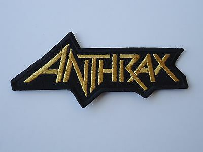 Anthrax Gold Logo Thrash Metal Embroidered Patch