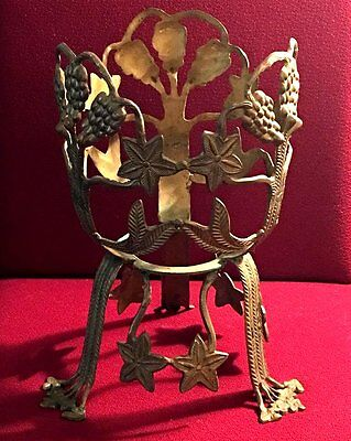 Antique Brass Plant Holder Stand Home or Garden Foliage Planter Decor