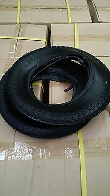 2 Tyres&Tubes 3.00-8 for Wheelbarrow/Mobility Scooters