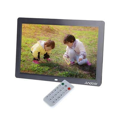 """12"""" HD TFT-LCD Digital Photo Frame Picture Alarm Clock Movie Player+Contorl B1T7"""