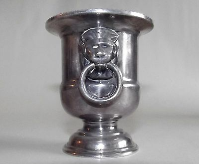 """Viners of Sheffield England silverplated toothpick holder--3"""" tall"""