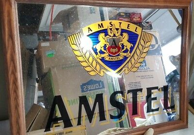 """New In Box/ Old Stock Advance Mirror Amstel Beer Mirror 26""""x20 1/2"""" Beer"""
