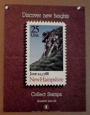1988 USPS office poster--New Hampshire  25c--poster 620--11x14