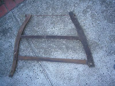 Vintage timber framed bow saw