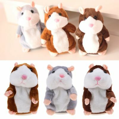 Adorable Talking Hamster Mimicry Speak Record Mouse Plush Toy for Baby Kids Gift