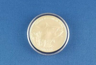 2014 Tokelau 1 oz .999 Silver $5 Yellowfin Tuna in Air-Tite Capsule