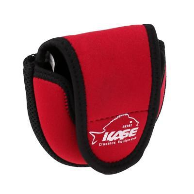 Fly Fishing Reel Pouch Fishing Reel Bag Case Fly Fishing Reel Protector Red