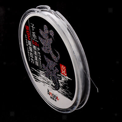 50m Super Strong Nylon Transparent Fishing Line Wire Cord Sea Fishing Tackle