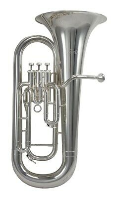 Schagerl SLEP800S 3-Valve Bb Euphonium - Silver Plate