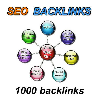 links SEO Backlinks creation 1000 links web positioning in Google