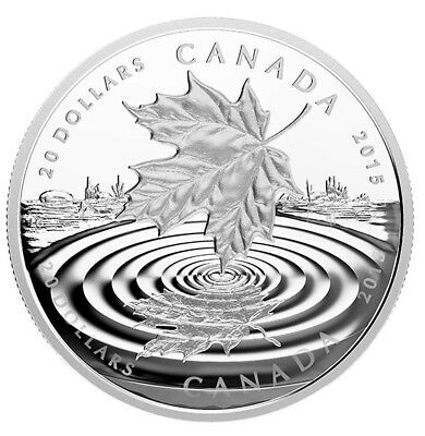 $20 Canada - Maple Leaf Reflection 99.99% - 1oz silver proof coin - RCM