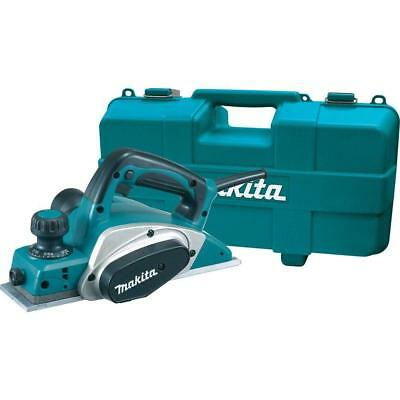 Makita Planer Kit 6.5 Amp 3-1/4 in. Corded Blade Set Hard Case Lock-On Button