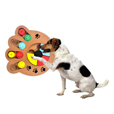 1 X Interactive Dog Food Treat Puzzle Toy Smart Training Game Toy Bone /