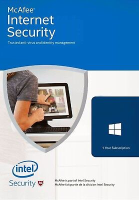 McAfee Internet Security 2018, 1 Year, 3 PC's Global Activation!