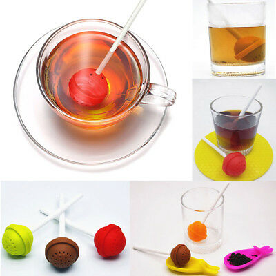 Mr.Tea Infuser Loose Tea Leaf Strainer Herbal Spice Silicone Filter Diffuser
