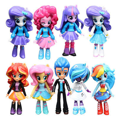 My Little Pony Equestria 9PCS Boys Girls Figures Set Monster Dolls Kids Toys
