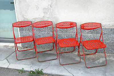 4 Chairs 50 years' INDUSTRIAL CHIC Bauhaus/Tolix/Eath Chair/Blocmetal