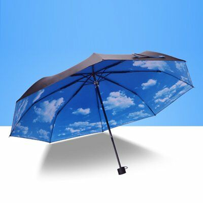 Modern Upside Down Reverse Umbrella Double Layer Inside-Out Colors Umbrella SKY