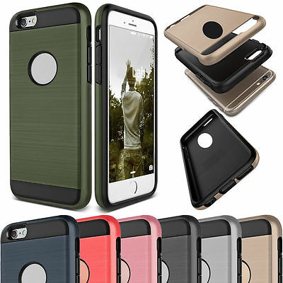 New Hybrid Brushed Shockproof Rugged Impact Armor Case Cover Skin For iPhone 6 7