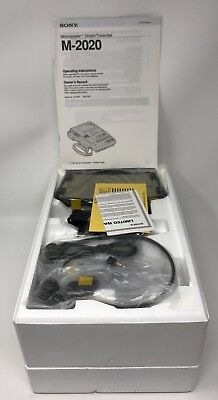 Sony M-2020 Microcassette Transcriber w/ Foot Pedal,AC Adapter,Headset & Mic NEW